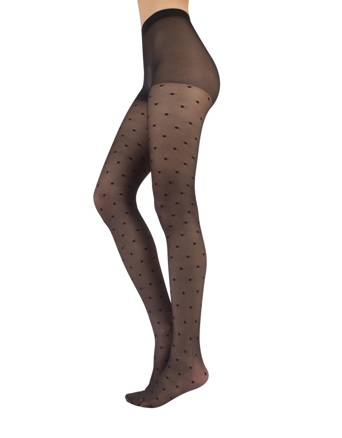 MICRO-NET TIGHTS WITH POLKA DOTS - 20 DEN