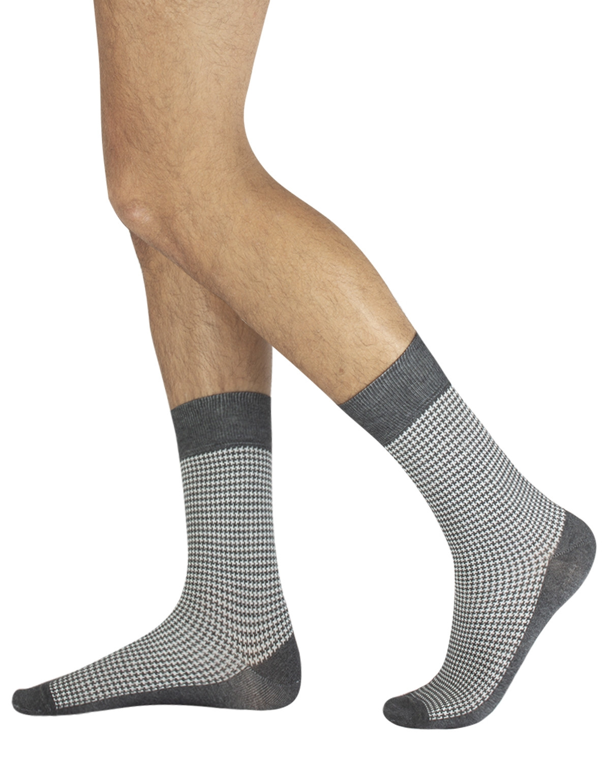 COTTON SOCKS HOUNDSTOOTH PATTERN