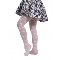 GIRL TIGHTS WITH FLORAL PATTERN - 25 DEN