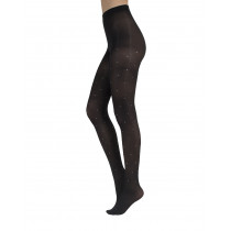 OPAQUE RHINESTONE TIGHTS - 40 DEN
