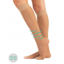 STRONG COMPRESSION KNEE-HIGH SOCKS - 70 DEN